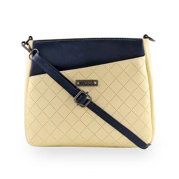 ESBEDA   ESBEDA Light Yellow Color Tiny Dot Texture Sling Bag For Women