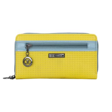 ESBEDA   ESBEDA Yellow Color Twill Wallet For Women