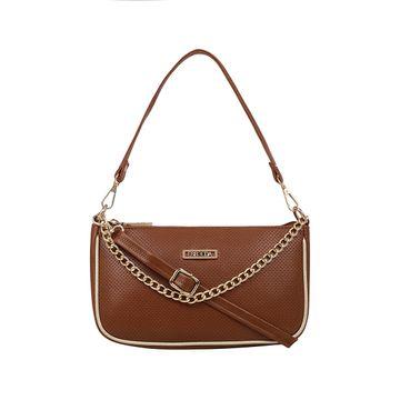 ESBEDA | ESBEDA Tan Color Twill Sling Bag For Women