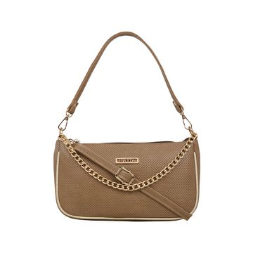 ESBEDA | ESBEDA Camel Brown Color Twill Sling Bag For Women