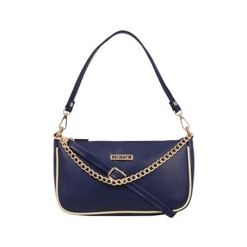 ESBEDA | ESBEDA Navy Blue Color Twill Sling Bag For Women