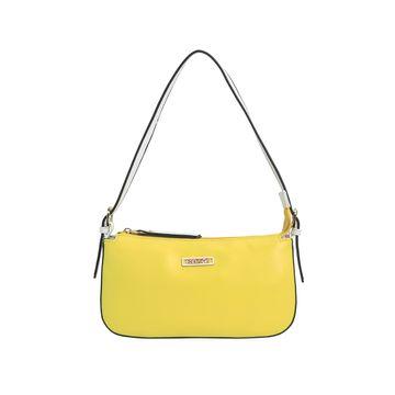 ESBEDA | ESBEDA Yellow And White Color Drymilk Handbag For Women