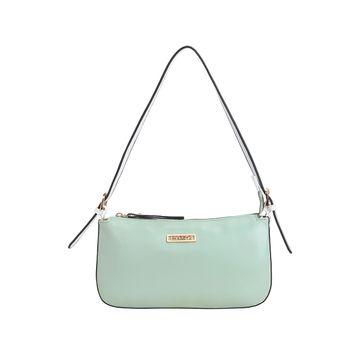 ESBEDA   ESBEDA Green And White Color Drymilk Handbag For Women