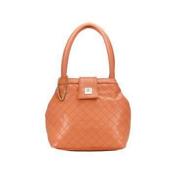 ESBEDA   ESBEDA Orange Color Drymilk Handbag For Women