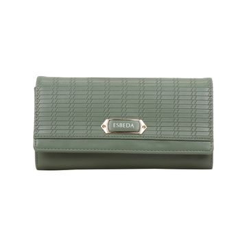 ESBEDA | ESBEDA Turquoise Green Color Twill Wallet For Women
