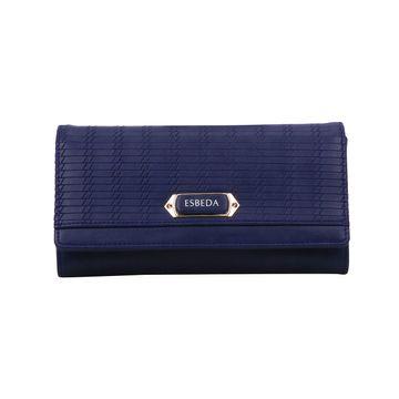 ESBEDA | ESBEDA Navy Blue Color Twill Wallet For Women