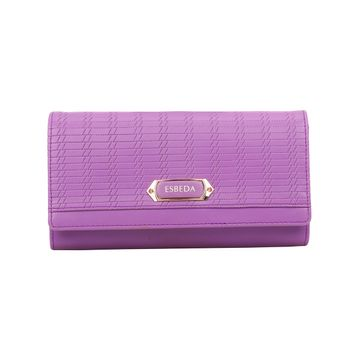 ESBEDA | ESBEDA Purple Color Twill Wallet For Women