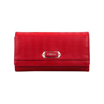 ESBEDA | ESBEDA Red Color Twill Wallet For Women