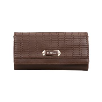 ESBEDA | ESBEDA Brown Color Twill Wallet For Women