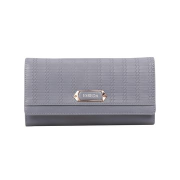 ESBEDA | ESBEDA Grey Color Twill Wallet For Women