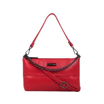 ESBEDA | ESBEDA Red Color Twill Sling Bag For Women