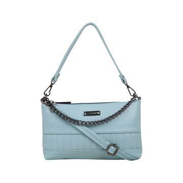 ESBEDA | ESBEDA Blue Color Twill Sling Bag For Women
