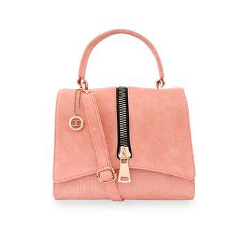 ESBEDA | ESBEDA Pink Color Satchel Box Bag For Women