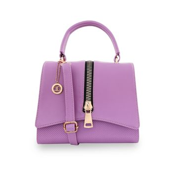 ESBEDA | ESBEDA Purple Color Satchel Box Bag For Women