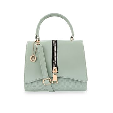 ESBEDA | ESBEDA Pista Green Color Satchel Box Bag For Women