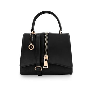 ESBEDA | ESBEDA Black Color Satchel Box Bag For Women