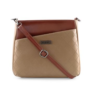 ESBEDA   ESBEDA Beige Color Tiny Dot Texture Sling Bag For Women