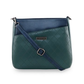 ESBEDA   ESBEDA Green Color Tiny Dot Texture Sling Bag For Women
