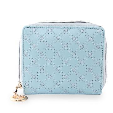 ESBEDA | ESBEDA Light Blue Color Elegance Embroidered Design Wallet For Women