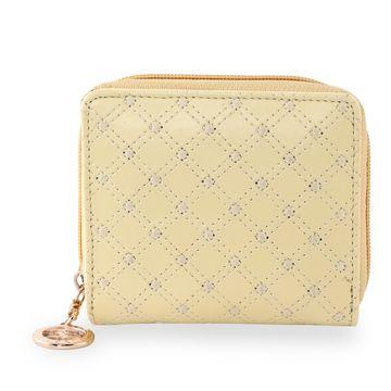 ESBEDA   ESBEDA Light Yellow Color Elegance Embroidered Design Wallet For Women
