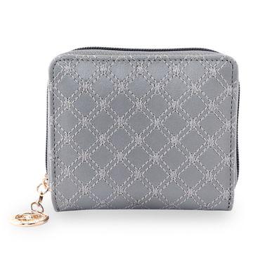 ESBEDA | ESBEDA Grey Color Elegance Embroidered Design Wallet For Women