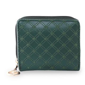 ESBEDA   ESBEDA Green Color Elegance Embroidered Design Wallet For Women