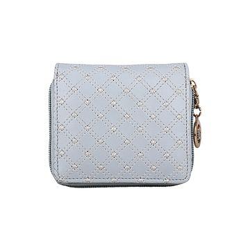 ESBEDA | ESBEDA Light GreyColor Elegance Embroidered Design Wallet For Women