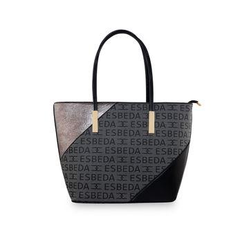 ESBEDA | ESBEDA Black Color Logo Printed Basket Handbag For Women