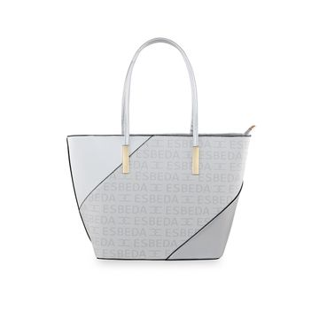 ESBEDA | ESBEDA White Color Logo Printed Basket Handbag For Women