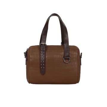 ESBEDA | ESBEDA Tan Color Solid Mini Duffle Croco Handbag For Women