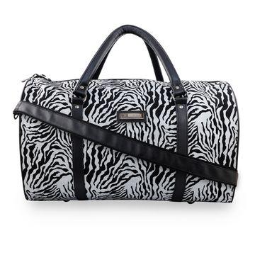 ESBEDA | ESBEDA Black-White Color Denim Zebra Print Duffle Bag For Mens and Women