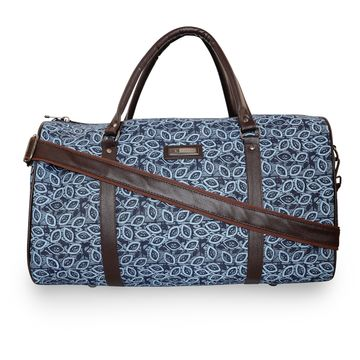 ESBEDA | ESBEDA Blue Color Denim Printed Duffle Bag For Mens and Women