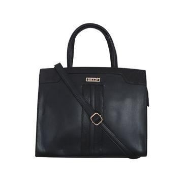 ESBEDA | ESBEDA Black Colour Glaze Croco Handbag For Women