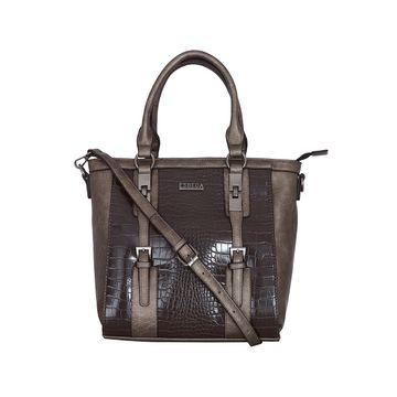 ESBEDA | ESBEDA Coffee Colour Glaze Croco Handbag For Women