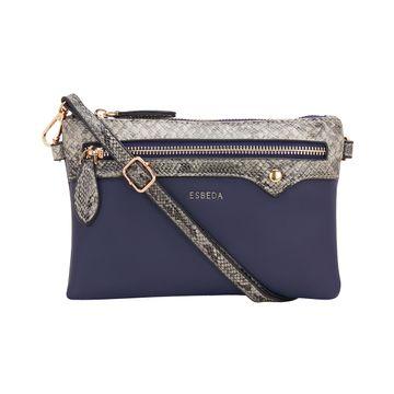 ESBEDA | ESBEDA Blue Color snake pattern latest sling bag For Women
