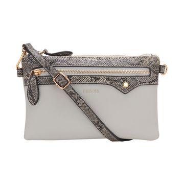 ESBEDA | ESBEDA Light Grey Color snake pattern latest sling bag For Women