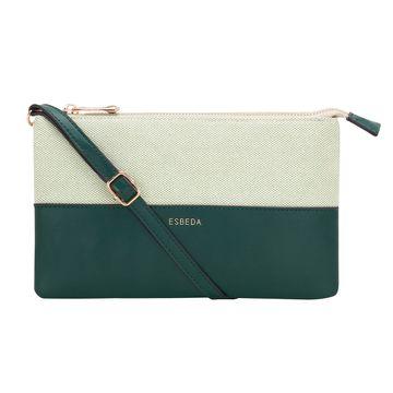 ESBEDA   ESBEDA Green Color Two sided Jute Sling bag For Women