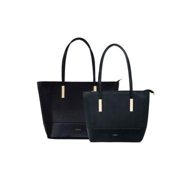 ESBEDA | ESBEDA Black Colour Basketweave Combo Handbag For Women