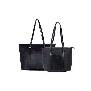 ESBEDA | ESBEDA Black Colour Basketweave Combo Handbag For Women