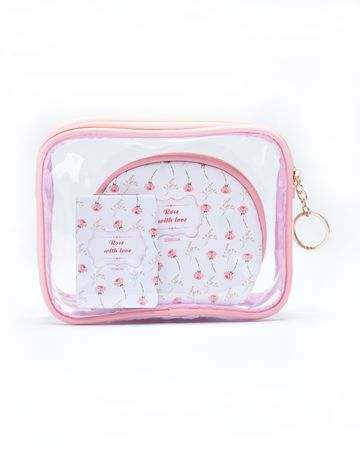 ESBEDA | ESBEDA Pink Color Travelling Makeup Pouch Kit