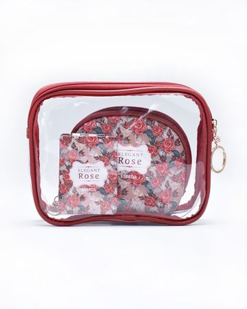 ESBEDA | ESBEDA Maroon Color Travelling Makeup Pouch Kit