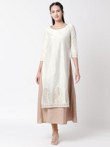 Ethnicity | Ethnicity White Chanderi Women Kurta