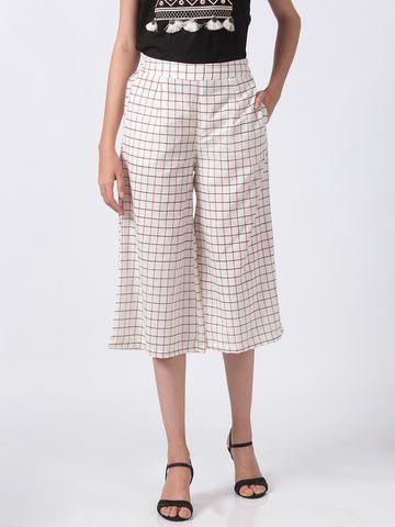 Ethnicity | Ethnicity Ecru Cotton Flax Women Culottes