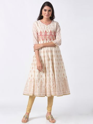 Ethnicity | Ethnicity Off White Chanderi Women Kurta