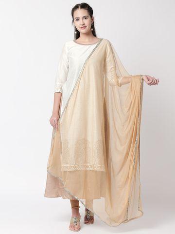 Ethnicity | Ethnicity Beige Net Women Dupatta