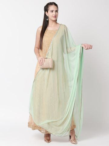 Ethnicity | Ethnicity Sap Green Net Women Dupatta