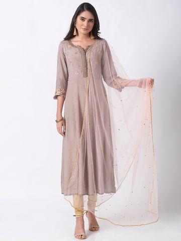 Ethnicity | Ethnicity Pink Net Women Dupatta