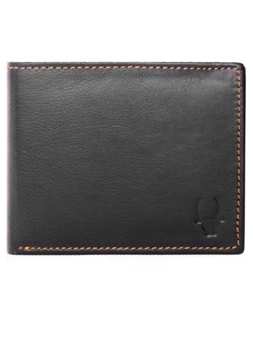 WildHorn | WildHorn RFID Protected Genuine High Quality Leather Black Wallet for Men
