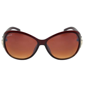 CREATURE | CREATURE Gaga Oversized Sunglasses For Women (Lens-Brown|Frame-Brown)