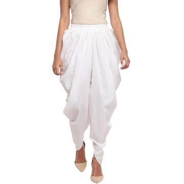 Fabnest | Fabnest Women Cotton White Dhoti Salwar